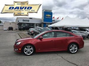 2013 Chevrolet Cruze 2LT RS, LEATHER, SUNROOF, NAVIGATION,18W