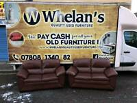 2 2 seater sofas in tan leather leather Hyde ( MINT MINT CONDITION)