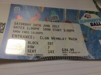 1 summertime ball ticket Wembley Stadium