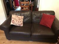 2 ikea Faux leather chocolate brown sofas