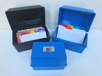 Index Record Card Holder Boxes - 3 Available