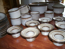 a large lot of DENBY look alike crockery