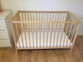 Wooden cot with mattress !!VGC!!
