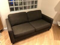 John Lewis Quality Dark Brown Two Seater Sofa Good Condition