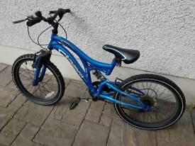 Kids full suspension bike muddy fox