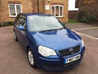 2007 Volkswagen polo 1.4 petrol 5 DR low mileage excellent condition