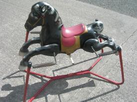 Vintage Metal Rocking Horse on Springs (WH_0477)