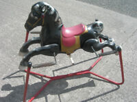 Vintage Metal Rocking Horse on Springs (WH_0477)
