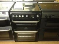 Black Hotpoint 60cm gas cooker