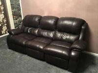 2 & 3 Seater Reclining Leather Sofas