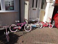 Three Childrens cycles