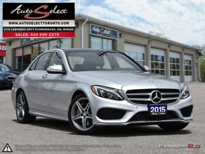 2015 Mercedes-Benz C-Class 4Matic C300 AWD ONLY 91K! **TECHNO...