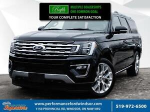 2018 Ford Expedition Max **Limited, 4X4, NAV, HEATED AND COOLED
