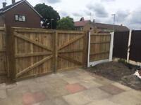 Driveway gates wooden gate