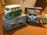 Campervan Electric Table Light and Campervan History Book