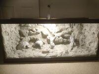 New large 4ft vivarium. Handmade wooden stylish reptile home.