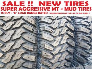 "LT 265/70 R17 SALE!! $135 NEW TIRES AGGRESSIVE MT - MUD TIRES 10 PLY ""E"" LOAD RANGE  -  Free Flat Repair*!!! - SALE !!"