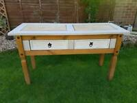 Mexican pine desk/sideboard