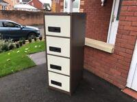 Sheer Pride 4 Drawer Filing Cabinet Storage Unit with Key