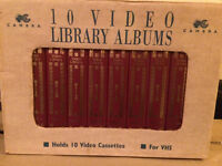 VHS LIbrary storage boxes unused 10