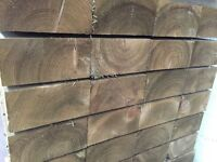 Wooden railway sleepers, all sizes available, tanalised green