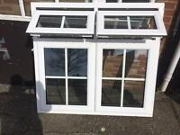A rated white pvcu window, ex display, cost £520, 1365 x 1280, £150.00