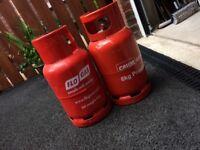 2 Empty Gas Cylinders
