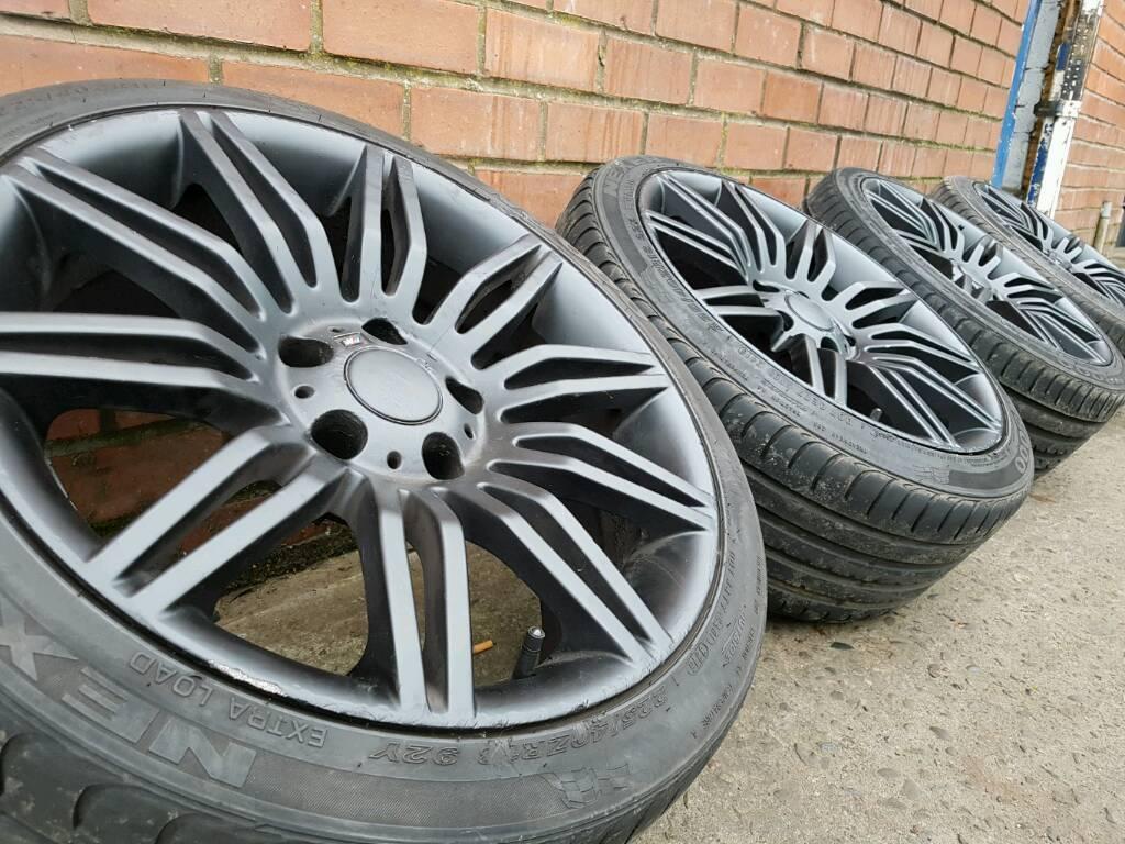 """BMW 18"""" SPIDER STYLE ALLOY WHEELS & TYRES 5X120 1 2 3 SERIES VW T5 VIVARO"""