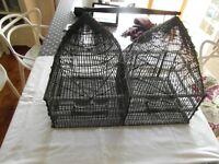 Antique metal bird cage