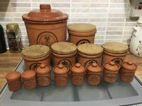 Terracotta style pottery collection