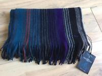 Paul Smith 100% wool striped scarf bnwt rrp £125