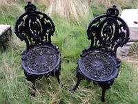 OLD VINTAGE LOOKING METAL GARDEN PATIO CHAIRS SEATING FOR THE GARDEN