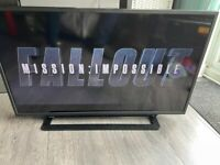 TV. Toshiba 40 inch; LED Colour TV, Full HD, freeview. Slim. Remote control