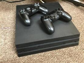 PlayStation 4 Pro - 1TB PS4 Pro - 2 Controllers