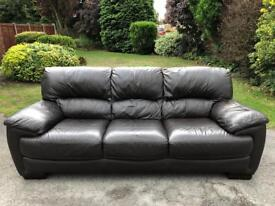3 Seat Leather Sofa