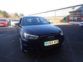 AUDI A1 1.6 TDI S Line [Heated Seats, Bluetooth] 5dr (black) 2015
