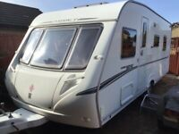 ABBEY 420GTS 4 berth caravan 2007 with motor movers & awning