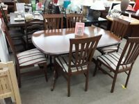 Morris Dining Table and 6 Chairs