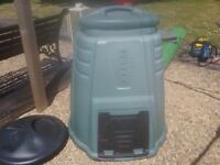 Compost bin used green large