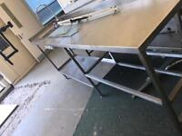 Stainless steel table / desk