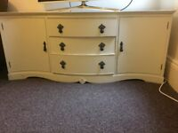 Shabby chic original,original handles and locks dove tail joints, solid bits of furniture