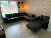 DWELL Toleda Left Hand Facing Arm Open End Corner Sofa