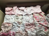 Various baby girls clothes. Smoke pet free home. From sizes new born to 6-9 months.