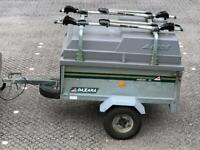 Erde 121 / 122 / daxara 126 trailer with hard top / load bars / bike racks trailor box camping