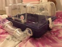 Hamster Cage good condition with bottle and bowl