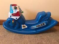 Little Tikes Police motorbike rocker with sound effects