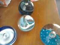 Blue Paperweights