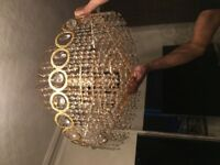 2 x vintage 12 arm chandeliers ceiling light pendant searchlight harrow ha3