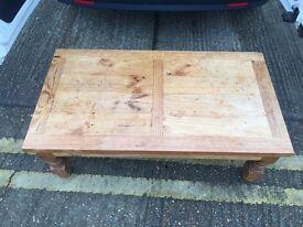 Pine Low Coffee Table- Great Quality Chunky Piece !! HEAVY!!