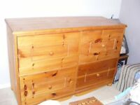 Hand made ENORMOUS bedding 4 drawer chest.